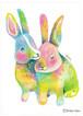 君が嬉しいなら私も嬉しい ウサギ〔ポストカード〕
