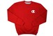 CHAMPION SUPER FLEECE CREW SWEAT (BIG RAISED C LOGO: CRIMSON)