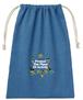 刺繍シャンブリック巾着(Blue)-2