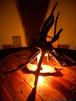 【アイヌテント】流木照明・ルームランプ