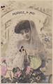 古絵葉書エンタイア「女性」(1907年)