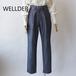 WELLDER/ウエルダー・Cotton-Linen Denim-ish Twill