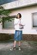 HERFEE ハーフィー CRAZY DENIM SKIRT ブルー 19016
