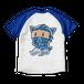 <ラグランTシャツ ホワイト×ロイヤルブルー>両面印刷 忍者みーちゃん