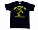 【M~XL】『ダブルアーム』 イラストTシャツ ネイビー (前後プリントあり)M~XXL