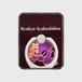 あやかし堂スマホリング・紫系ロゴあり・シルバー
