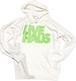 "LIVE HAUS  ""2020 Winter"" Logo Hoodie   WHITE x NEON GREEN"