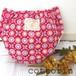 布おむつカバー  パンツタイプ 80-95 花と蝶々 ピンク×くまタグ