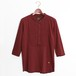 Pin tuck Henry Tee -Bordeaux