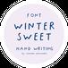 《フォントデータ》WINTER SWEET