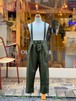 NEEDLEWORKS Stretch-chino suspender pants(KHAKI/90〜150cm)