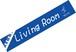マフラータオル (Living Room)・ブルー