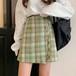 【ボトムス】膝上韓国系ハイウエストAラインスカート24444801