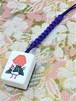 《べっ甲柄》積層麻雀牌 正絹根付(江戸紫) 【イーソー】