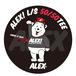 """"""" ALEX! 50/50 Tee"""" C/#C.GRAY"""