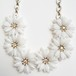 """""""Coro"""" white flower necklace[n-208]"""
