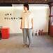 アップリケ&プリント  Wide Tシャツ 12S41 サイズ2