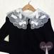 チューリップ刺繍 オーガンジー大き目付け襟