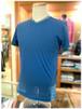【LIBERO DIAMBRA】- Italy -          リベロディアンブラ   Vネック半袖Tシャツ    切りっぱなし加工×衿・袖切り替え