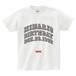 minario / COLLEGE BIRTHDAY LOGO T-SHIRT WHITE