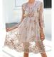 【お取り寄せ】チュール スパンコール ミディアムドレス ワンピース