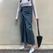 Long waist wrap skirt ロング ウエスト ラップ スカート