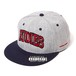 "RUDIE'S / ルーディーズ  | HEAD GEAR "" COLLEGE SNAPBACKCAP "" - GRAY/NAVY"