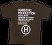 HOSU プリントTシャツ ブラウン