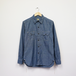 WORK SHIRT WITH ELBOW PATCH (INDIGO CHAMBRAY)