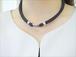 健康ネックレス布製 着脱器付 装着例 (黒) 健康楽々くん
