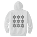 ERICH / NINTH HEXAGRAM HOODED SWEATSHIRT WHITE