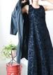 black velour sleeveless dress