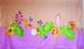 手描きパレオ サーモンピンクxピンク 003