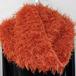手編み:スヌード オレンジモケモケ