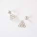lace triangle pierced earring - silver