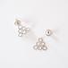 lace triangle pierced earring - silver