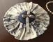 高級シルクのバラ柄フリルのリングピロー