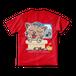 <レッドTシャツ 両面>お風呂みーちゃん