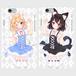 猫双子iPhoneケース(iPhone5/5s/SE/6/6s/7)