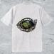 Alligator-eye Tシャツ/アッシュ*メンズ【色鉛筆手描きデザイン】高級綿糸使用で着心地抜群、長持ちの高性能Tシャツ
