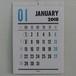 レタープレス・カレンダー2018年(日本版)