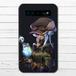 #018-003 クール系・女の子系 モバイルバッテリー《Secret plan》 カラーブラック iphone スマホ 充電器 作:フライ・フローライト(共作)