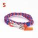 【Sサイズ】ブレスレット / オレンジ×ブルー (No.0004A)