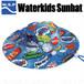 WSP 子ども用 サンハット ブルー ラッシュ素材のサーフハット