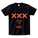ERICH / XXX LOGO T-SHIRT BLACK x ORANGE