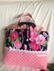 入園入学体操着お着替え袋内袋巾着65大ぶり和花とパール