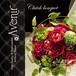 ブーケ ウェディングブーケ造花 アートフラワーブーケ 結婚式 光触媒 クラッチブーケ ワインカラーバラ
