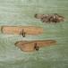流木のマグネット、フック付き3個ー3