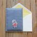 ヒツジのぷっくりカード(二つ折り)