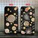 星空柄 アイフォンXケース  iphone7 plusケース 刺繍 星 月 ロケット 天体 オシャレ 夢幻